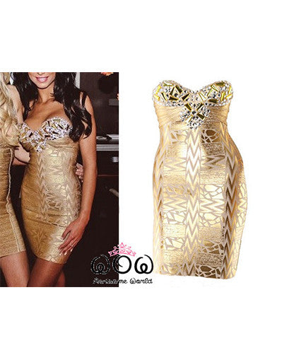 Luxury Gold Dress - Awesome World - Online Store  - 1