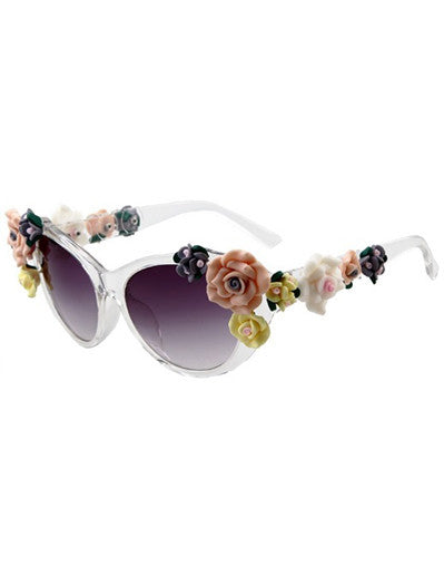 Flower Celebrity Sunglasses - 2 Colors - Awesome World - Online Store  - 4