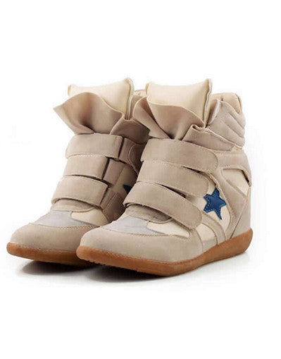 Wedge Sneakers - beige models