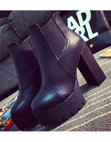 Trendy Platform Boots - 2 colors
