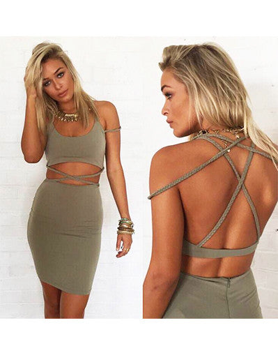 Strappy Backless Set - 2 colors - Awesome World - Online Store  - 1