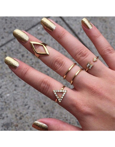 Triangle Rings Set - Awesome World - Online Store