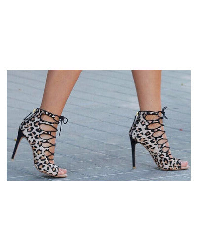 Leopard Strappy Heels - Awesome World - Online Store  - 1