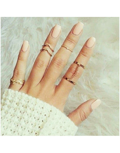 5 Pieces Set Rings - Awesome World - Online Store