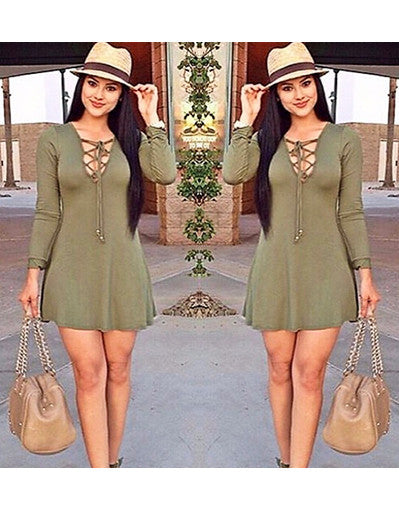 Army Lace Up Mini Dress - Awesome World - Online Store  - 3