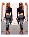 Striped Bodycon Set - Awesome World - Online Store  - 1