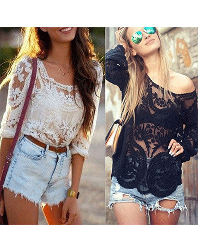 Lace Long Sleeve - Many Colours