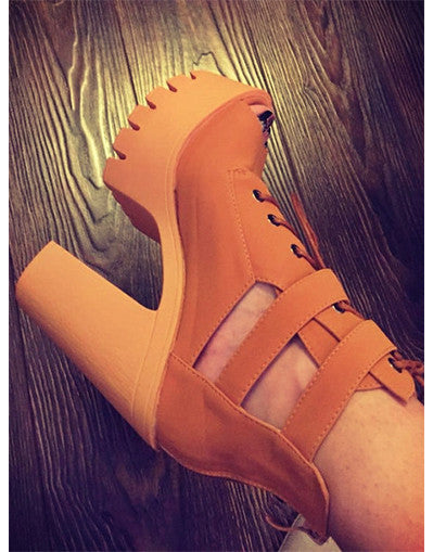 Open Toe Platform Sandals - 2 colors - Awesome World - Online Store  - 3