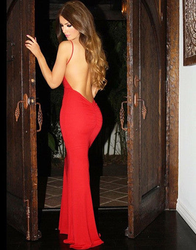 The Red Backless Dress - Awesome World - Online Store  - 3