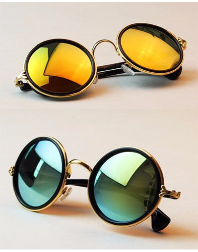 Round Mirrored Sunglasses - 3 colors - Awesome World - Online Store  - 2