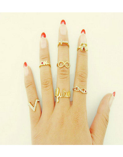 7 pcs Stylish Rings - Awesome World - Online Store  - 1