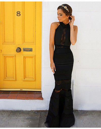 Bandage & Lace Maxi Gown - 2 colors - Awesome World - Online Store  - 3