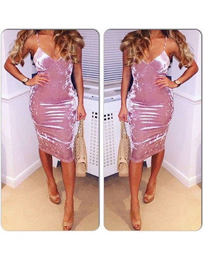Velvet Kylie Style Dress - Awesome World - Online Store  - 1