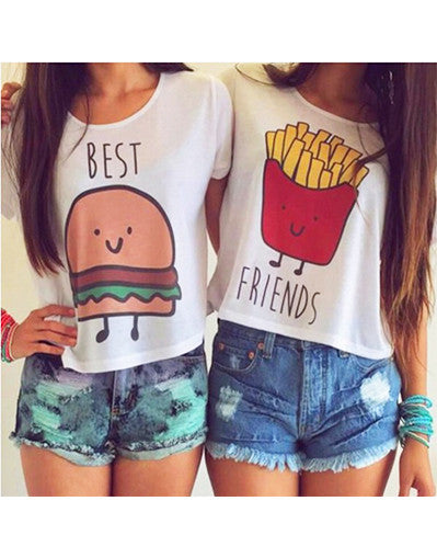 Best Friends Crop Tops - Awesome World - Online Store