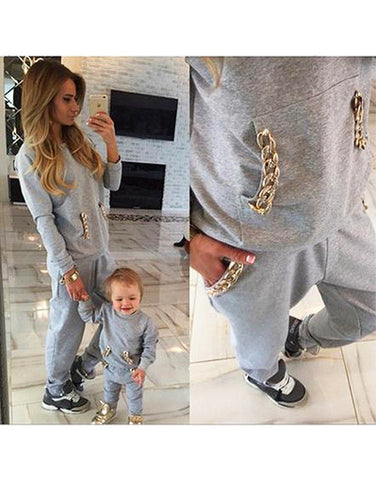 Gold Chain Casual Tracksuit