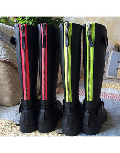 Rubber Boots with Neon Zipper - Awesome World - Online Store  - 1