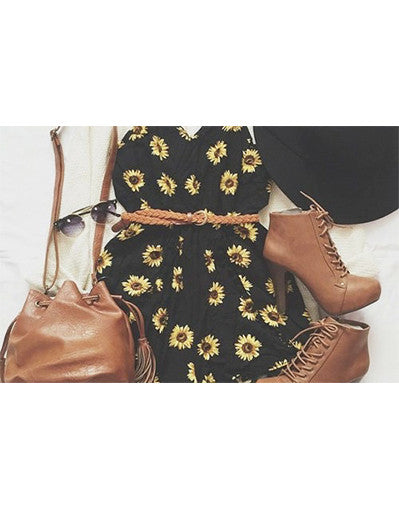 Black Floral Jumpsuit - Awesome World - Online Store  - 2