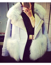 Aqua Blue Fur Jacket - Awesome World - Online Store  - 3