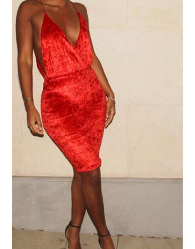 Velvet Celeb Dress - Red or White - Awesome World - Online Store  - 2
