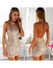 Glitter Halter Neck Dress - 2 colors - Awesome World - Online Store  - 2