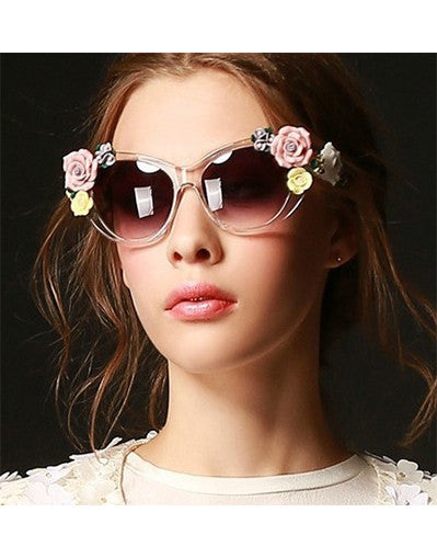 Flower Celebrity Sunglasses - 2 Colors - Awesome World - Online Store  - 3