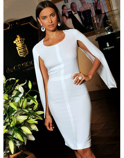 Bandage Irina White Midi Dress - Awesome World - Online Store  - 2