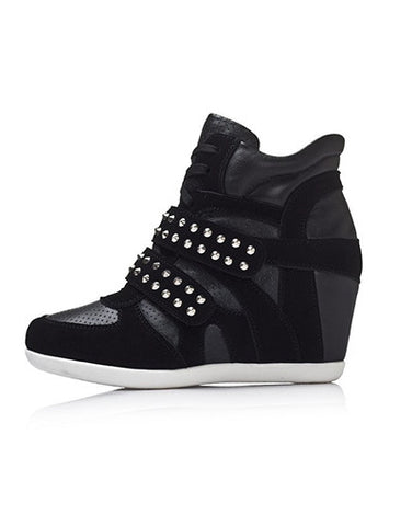 Wedge Rivets Sneakers - 2 colors