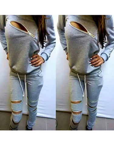 Zippers Tracksuit Set