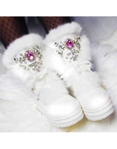 Plataform Snow Boots with Rhinestones - Awesome World - Online Store  - 1