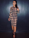Mesh Striped Dress - Nude or Black - Awesome World - Online Store  - 2