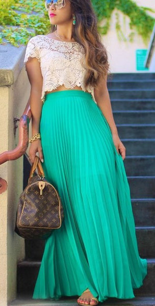 Long Chiffon Skirt - 7 colors - Awesome World - Online Store  - 3