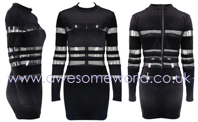 Khloe Velvet Black Dress - Awesome World - Online Store  - 5