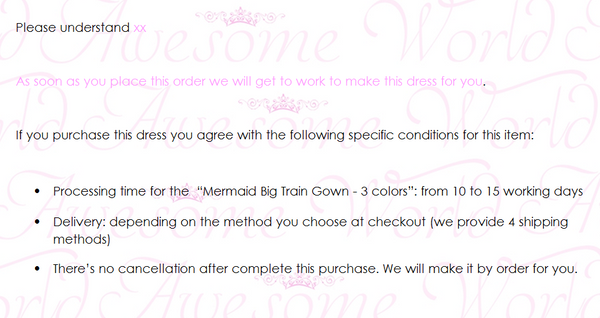 Mermaid Big Train Gown - 3 colors - Awesome World - Online Store  - 4