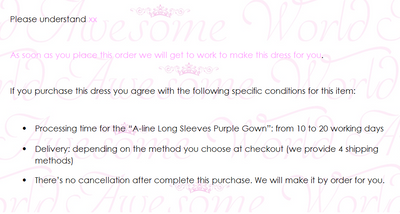 A-line Long Sleeves Purple Gown - Awesome World - Online Store  - 3