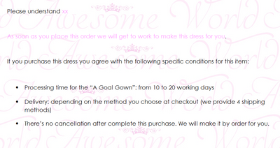 A Goal Gown - Awesome World - Online Store  - 7