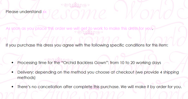 Orchid Backless Gown - Awesome World - Online Store  - 4