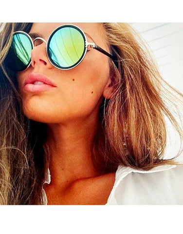 Round Mirrored Sunglasses - 3 colors