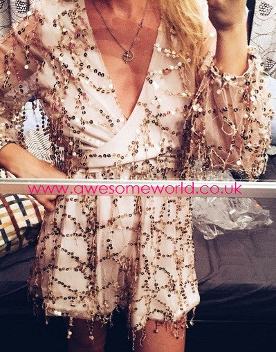 Sequins Glam Romper - Awesome World - Online Store  - 8