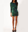 Sequins Green Dress