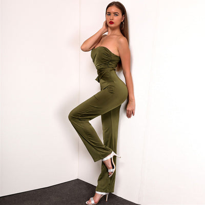 Sleeveless Cross Jumpsuit