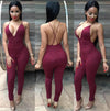 Backless Jumpsuit - 4 Colors