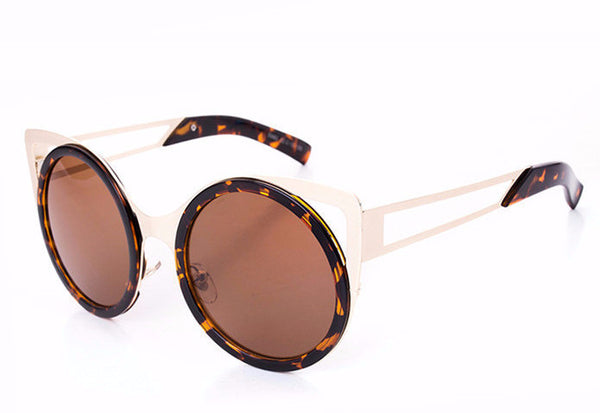 Round Trendy Cat Eye Sunglasses - 6 Colors - Awesome World - Online Store  - 4