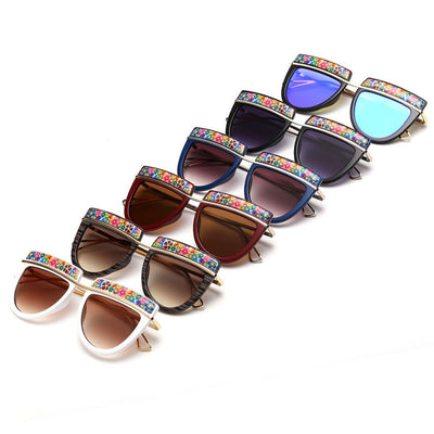 Flowers Top Decorative Sunglasses - Awesome World - Online Store  - 3