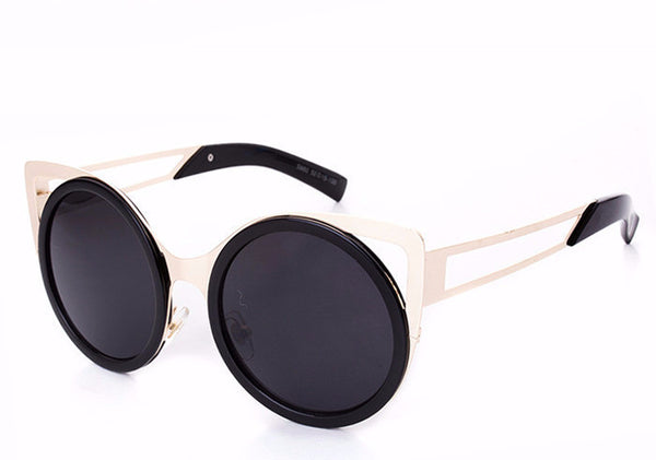 Round Trendy Cat Eye Sunglasses - 6 Colors - Awesome World - Online Store  - 6