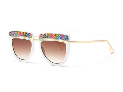Flowers Top Decorative Sunglasses - Awesome World - Online Store  - 7