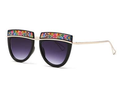 Flowers Top Decorative Sunglasses - Awesome World - Online Store  - 2