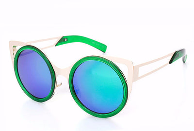 Round Trendy Cat Eye Sunglasses - 6 Colors - Awesome World - Online Store  - 5