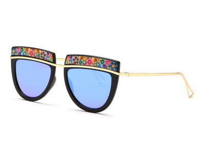 Flowers Top Decorative Sunglasses - Awesome World - Online Store  - 4