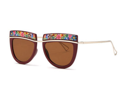 Flowers Top Decorative Sunglasses - Awesome World - Online Store  - 6