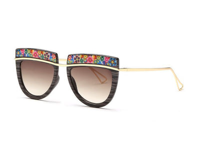 Flowers Top Decorative Sunglasses - Awesome World - Online Store  - 5